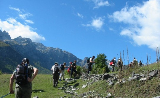 Trekking in the Albanian Alps
