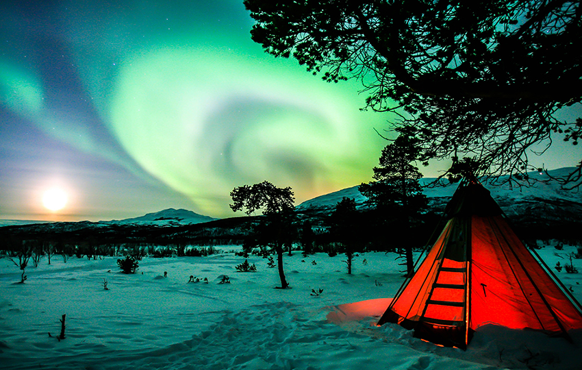 northern lights watch at the abisko national park sweden
