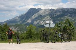 Cycling near Omis