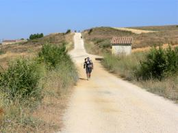 Camino de Santiago walking from Sahagun to Leon Spain