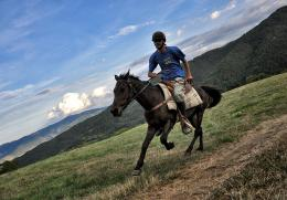 the lonely rider, Rodopi Mountains