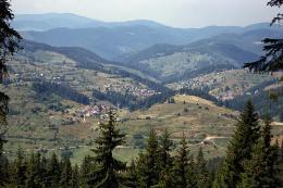 Rodopi Mountain villages, view from above