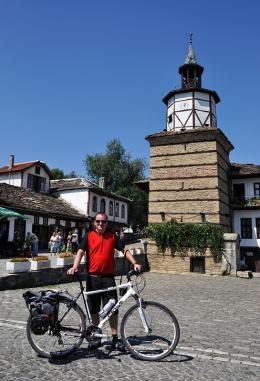 the clock tower of Old Tryavna Town, Bulgaria