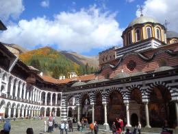 Rila Monastery, Rila Mountain in back ground view