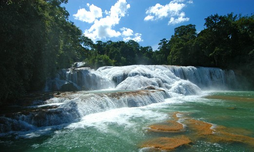 Aqua Azul - The most beautiful waterfalls in Mexico