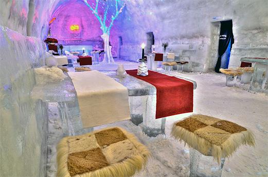 The Ice Hotel in Romania