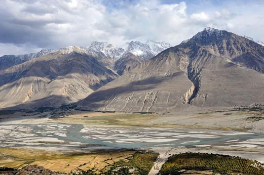 Wakhan Corrider territoriet, hvor temperature ikke overstiger nulpunktet mere end 300 dage om året