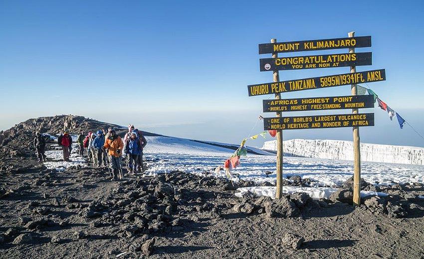 """Килиманджаро е най-лесният за катерене връх сред """"Седемте върха"""""""
